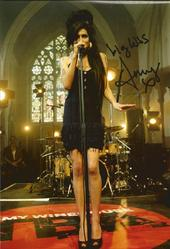 Amy Winehouse Signed 12x8 Photo