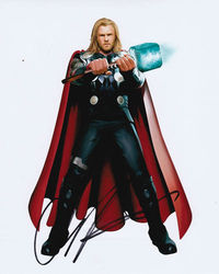 Chris Hemsworth Signed Thor 10x8 Photo