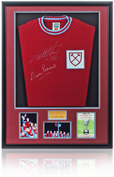Hurst & Peters hand signed West Ham United 1965 Cup Shirt
