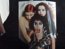 Curry, Tim in Rocky Horror Picture Show - with Patricia Quinn & Nell Campbell - authentic autographs