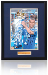 "ASHLEY COLE Hand Signed CHELSEA F.C. 16x12"" framed Cup Photo"