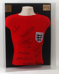 England 1966 World Cup Final Shirt hand signed by 8