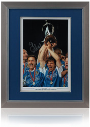 "Gianfranco Zola Hand Signed 16x12"" Chelsea FC ECWC photo"