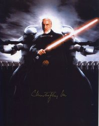 Christopher Lee Autograph STAR WARS signed in person 10x8 photo