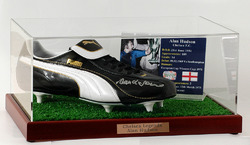 ALAN HUDSON Hand Signed Football Boot