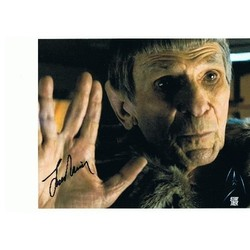 Leonard Nimoy Autograph Star Trek Signed In Person 10x8 Photo