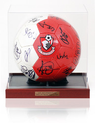 AFC BOURNEMOUTH 2011/12 Squad Hand Signed Football Ball