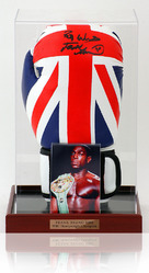 Frank Bruno Hand Signed Union Jack Boxing Glove