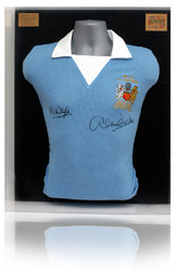 Doyle & Tueart hand signed 1976 Manchester City League Cup Final Shirt