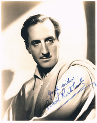 Basil Rathbone Signed Photo