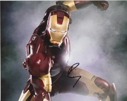Robert Downey Jnr Autograph Iron Man - 10x8 signed photo