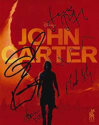 JOHN CARTER Autographs signed in person by 5 10 x 8 photo