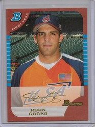 05 Bowman Draft Ryan Garko Red 1/1