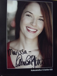 Righetti, Amanda - authentic autograph - Mentalist