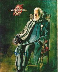 Donald Sutherland AUTOGRAPH Hunger Games SIGNED IN PERSON 10x8 photo