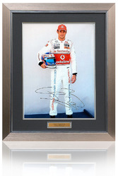 "Jenson Button hand signed 16x12"" Photograph"