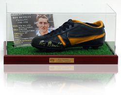 Roy Bentley CHELSEA FC Hand Signed Football Boot Presentation