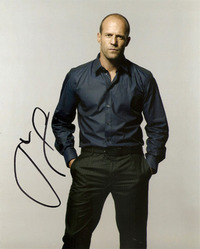 Jason Statham signed 10x8 photo
