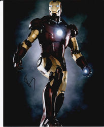 Robert Downey Jnr Autograph IRON MAN signed in person 10x8 photo