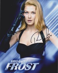 Rosamund Pike Autograph JAMES BOND 007 signed in person 10 x 8 photo