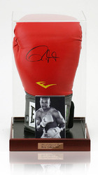 Roy Jones Jnr. Hand Signed Boxing Glove in display case