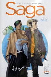 Image, Saga - Chapter One, #1, first printing signed by Fiona Staples