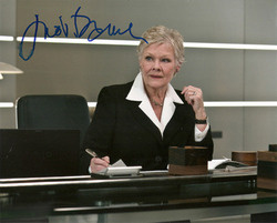 Judi Dench signed 10x8 photo
