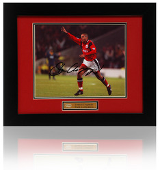 "STAN COLLYMORE Hand Signed Nottingham Forest 10x8"" Framed Photograph"