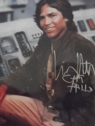 Hatch, Richard - authentic autograph Battlestar Galactica