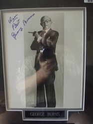 Burns, George - authentic autograph - 2
