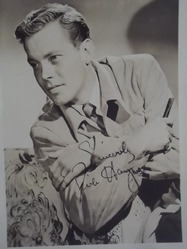Haymes, Dick - authentic autograph