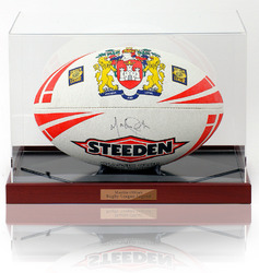 Martin Offiah hand signed Wigan Warriors Rugby Ball