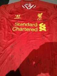 Liverpool FC signed 2013/14 squad shirt