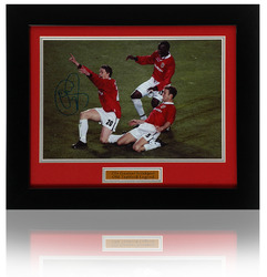 Ole Gunnar Solskjaer Hand Signed Manchester United Photo