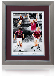 Frank McAvennie & Tony Cottee hand signed montage
