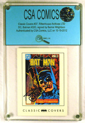 Classic Covers #37 card signed by Bernie Wrightson