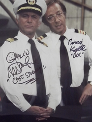 "McGavin, Darren and Kopell, Bernie - authentic authgraphs - ""Love Boat"""