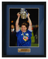 Tony Cottee Hand Signed Leicester City Worthington Cup Photo