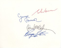 Beatles signed white album page