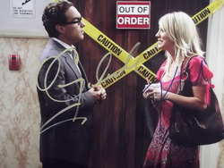 Galecki, Johnny and Cuoco, Kaley - authentic autographs - The Big Bang Theory