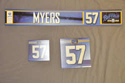 Tyler Myers Buffalo Sabres Locker Room Nameplate, Stick Plate, Dry Stall Plate 2010-11 Season