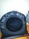 "SIGNED BLACK MICHAEL JACKSON ""BILLIE JEAN"" FEDORA"