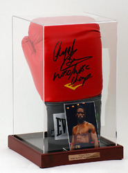 Nigel Benn Hand Signed Boxing Glove in display case