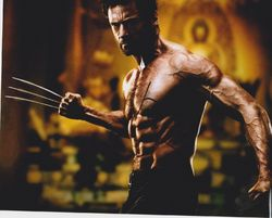 Hugh Jackman AUTOGRAPH WOLVERINE SIGNED IN PERSON 10x8 photo