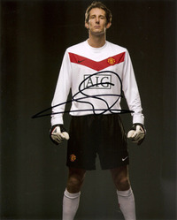 EDWIN VAN DER SAR SIGNED 10X8 PHOTO