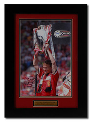 Teddy Sheringham Hand Signed Manchester United photo