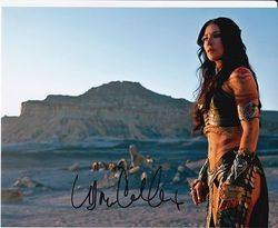 LYNN COLLINS Autograph JOHN CARTER signed in person 10x8 photo