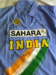 multi signed India One day shirt