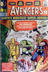 Marvel, The Avengers #1, vol. #1, signed by Stan Lee, Jack Kirby and Dick Ayers.
