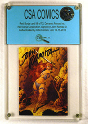 Red Sonja #58 of 72 card signed by John Romita Sr.